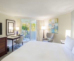 The garden view room features the same luxury accomodations as our ocean view rooms.